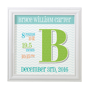 Personalized Blue Announcement Frame - Lillian Rose