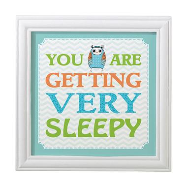 "Blue Owl ""You Are Sleepy"" Frame - Lillian Rose"