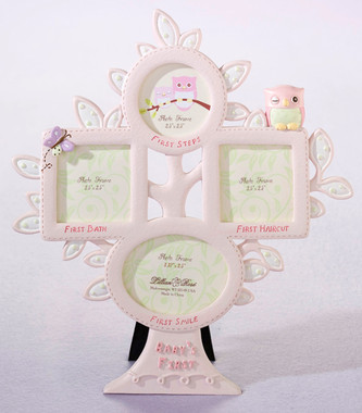 Pink Owl First Year Picture Frame - Lillian Rose