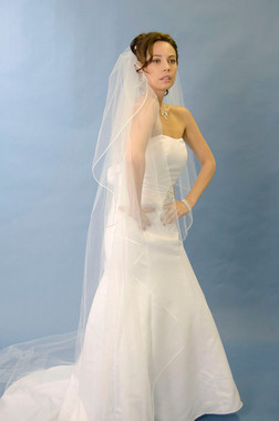 Ansonia Bridal Veil Style 350 - One tier, cathedral veil with vermicelli edge