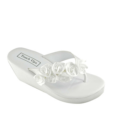 Beach Sandals-Touch Ups Women's Birdy Sandals- White