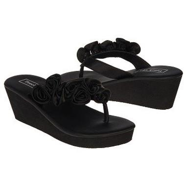 Beach Sandals-Touch Ups Women's Birdy Sandals- Black