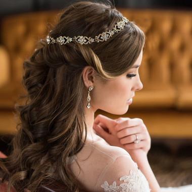 Bel Aire Bridal Accessory Headpiece 6589- Bridal Hair Halo