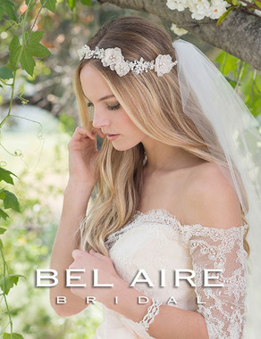 Bel Aire Bridal Headpiece 6551- Bridal Hair Garland