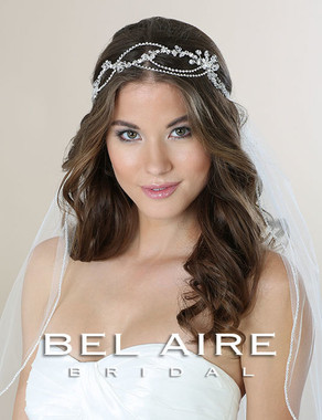 Bel Aire Bridal Accessory Headpiece 6556- Bridal Hair Bandeau