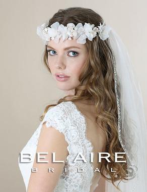 Bel Aire Bridal Accessory Headpiece 6571- Bridal Hair Garland