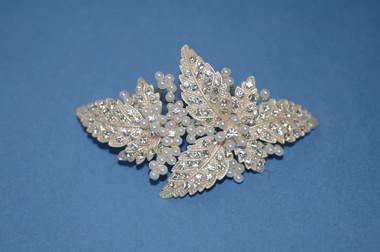 Ansonia Bridal 8418- Bridal Rhinestone Leaf Comb
