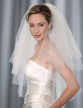 Bel Aire Bridal Wedding Veil V7161- Four Tier Flyaway Elbow Veil