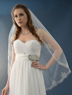 Ansonia Bridal Veil Style 473S - Fingertip Wedding Veil