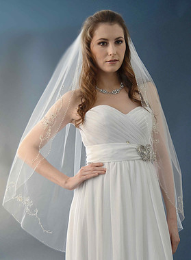 Ansonia Bridal Veil Style 475L -Cathedral Length