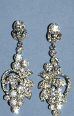 Ansonia Bridal 8431 - Rhinestone Earrings
