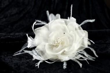 Erica Koesler Hair Clip A-398 - Silk Organza Rose