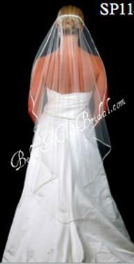 Giselle Bridal Veil Style SP118- Satin Edge