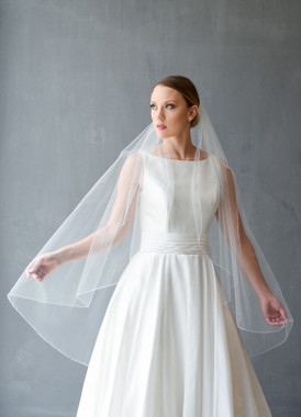 Erica Koesler Wedding Veil 856-45- Beaded Scattered Veil