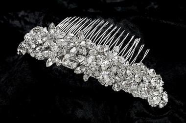 Erica Koesler Comb A-5381 - Rhinestone Flower Comb