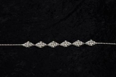 Erica Koesler Headband A-5454 - Rhinestone Filigrees Headband
