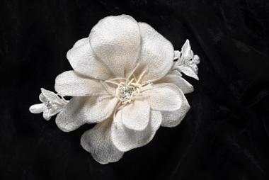 Erica Koesler Comb A-5547 - Fabric Floral Comb