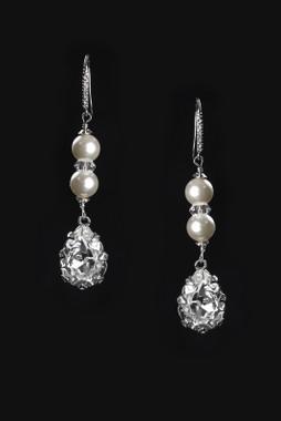 Erica Koesler Earring J-9395 - Pearl & Crystal Earring