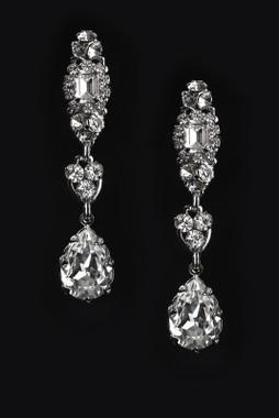 Erica Koesler Earring J-9401 - Rhinestone Filigree Earring