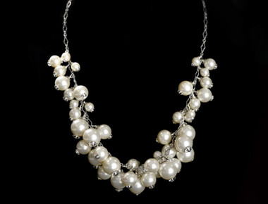 Erica Koesler Necklace J-9406 - Pearl Clusters Necklace