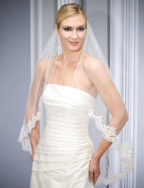 Bel Aire Bridal Wedding Veil V7034 - Fingertip