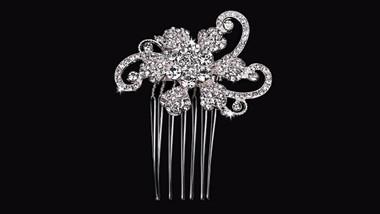 En Vogue Bridal Comb HC1630- Rhinestone Accents