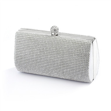 2-Sided Crystal Evening Bag Clutch Minaudi̬re 4394EB-S