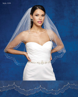 Marionat Bridal Veils 3339- The Bridal Veil Company -Scalloped Beaded Edge
