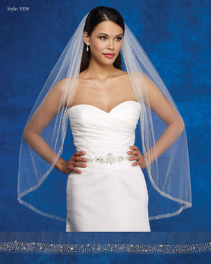 Marionat Bridal Veils 3358- The Bridal Veil Company - Beaded Edge Veil