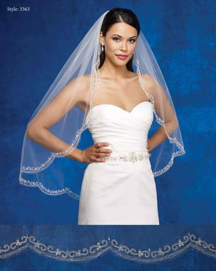 Marionat Bridal Veils 3363- The Bridal Veil Company - Scalloped Beaded Border