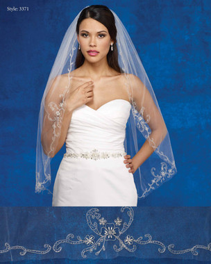 Marionat Bridal Veils 3371- The Bridal Veil Company - Embroidered Design