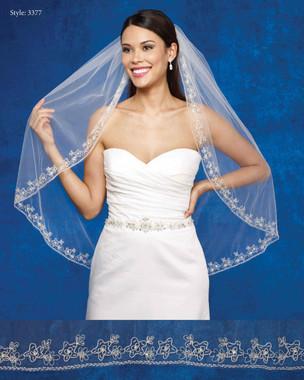 Marionat Bridal Veils 3377- The Bridal Veil Company - Beaded Edge