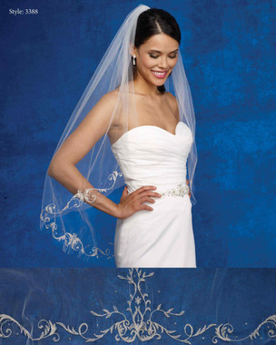 Marionat Bridal Veils 3388- The Bridal Veil Company - Embroidered Beaded Edge