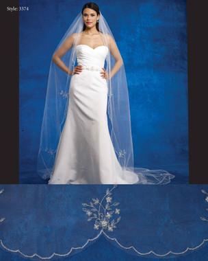 Marionat Bridal Veils 3374- The Bridal Veil Company - Cathedral Scalloped Beaded Edge