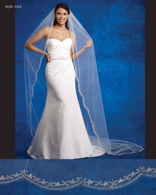Marionat Bridal Veils 3364- The Bridal Veil Company - Cathedral Beaded Scalloped Edge