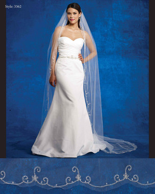 Marionat Bridal Veils 3362- The Bridal Veil Company - Scalloped Beaded Edge