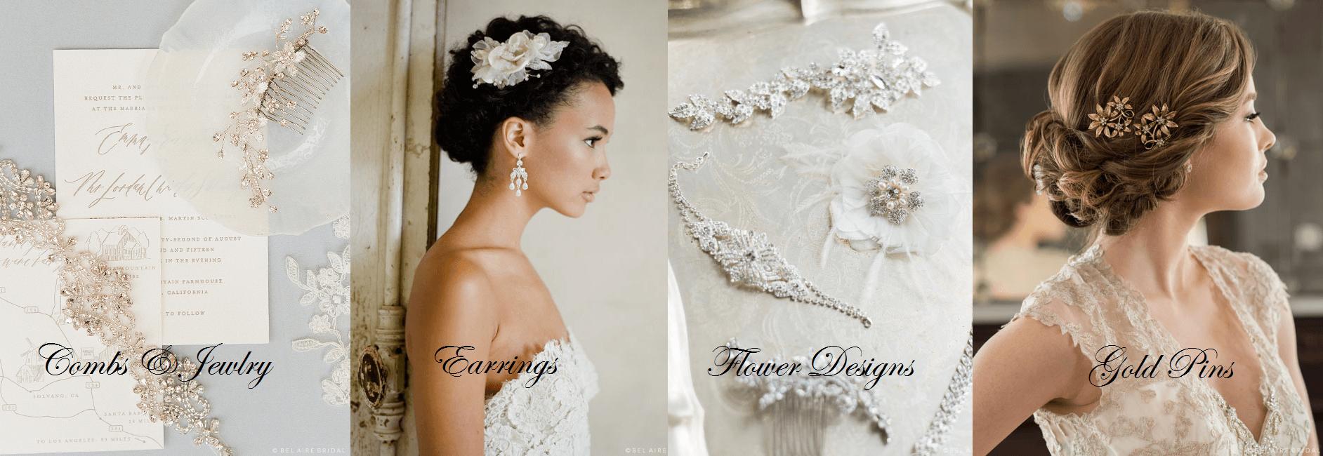 Wedding Hair Accessories, Bel Aire Halos, Bel Aiire combs