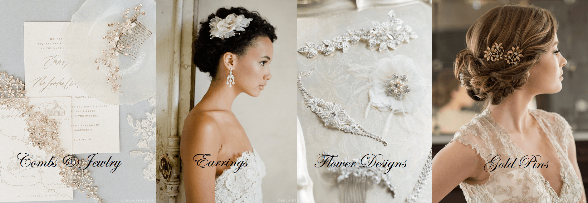 Wedding Hair Accessories, Bel Aire Halos, Bel Aiire combs