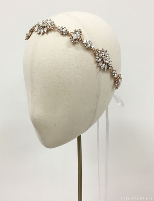 Bel Aire Bridal 6602 -Rhinestone tie headband