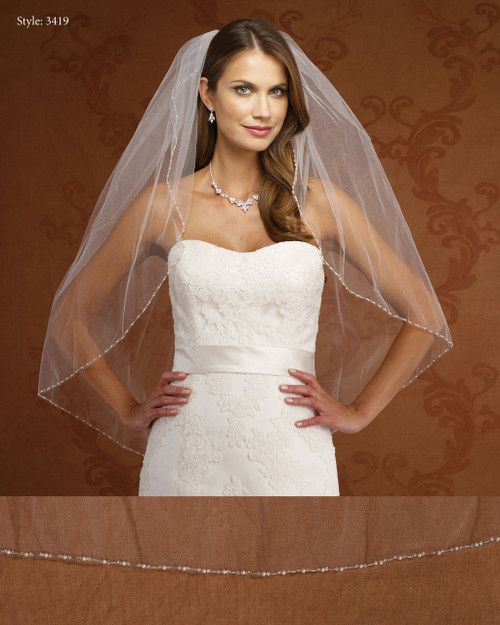 Marionat Bridal Veils 3418- Pearl Edge-The Bridal Veil Company