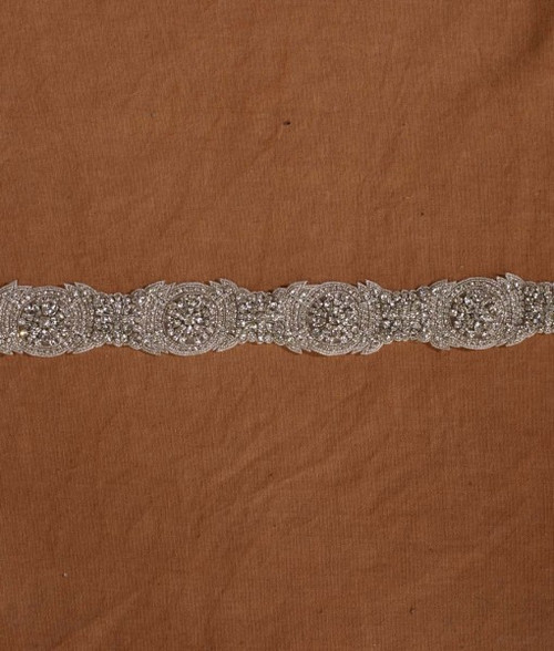 "Marionat Bridal Belt 1060 -Rhinestone Belt On Organza 30""Long-The Bridal Veil Company"