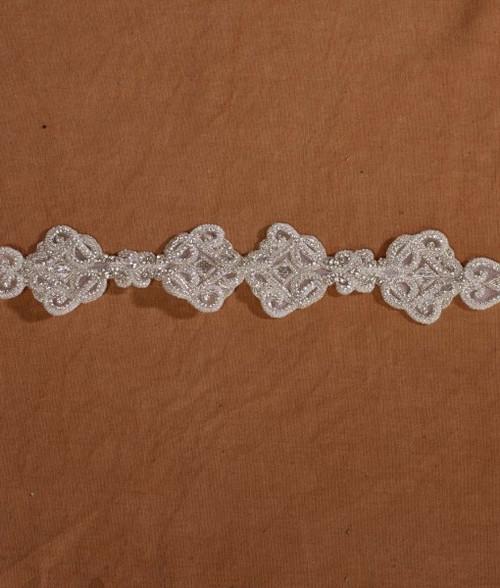 "Marionat Bridal Belt 1061 -Beaded Rhinestone Belt 22"" Long-The Bridal Veil Company"