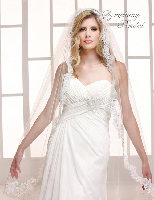 Symphony Bridal Wedding Veil - 6748VL - Mantilla