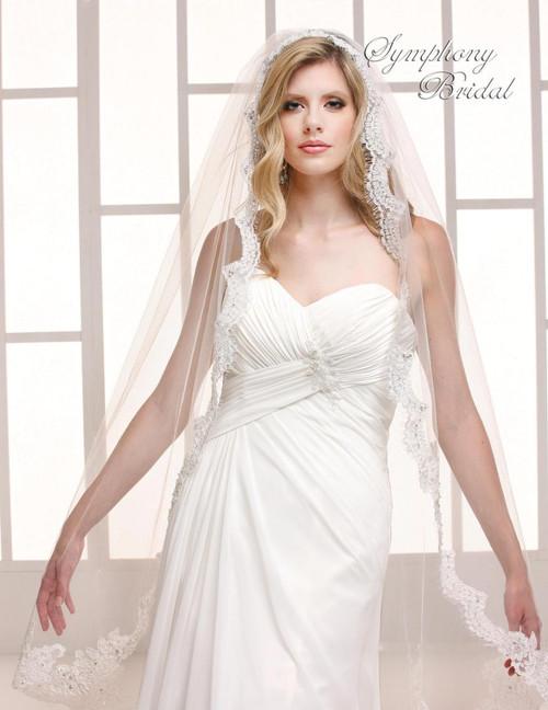 Symphony Bridal Wedding Veil - 6748VL - Mantilla