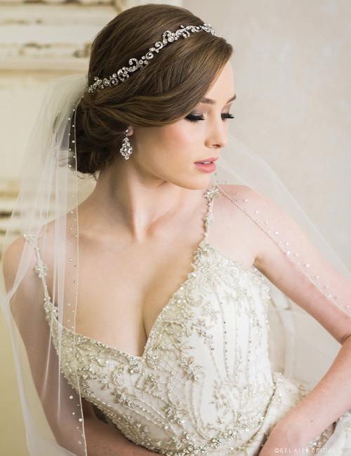 Bel Aire Bridal 6735 - Swirling rhinestone garland