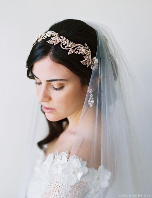 Bel Aire Bridal 6706 - Swirling rhinestones headband