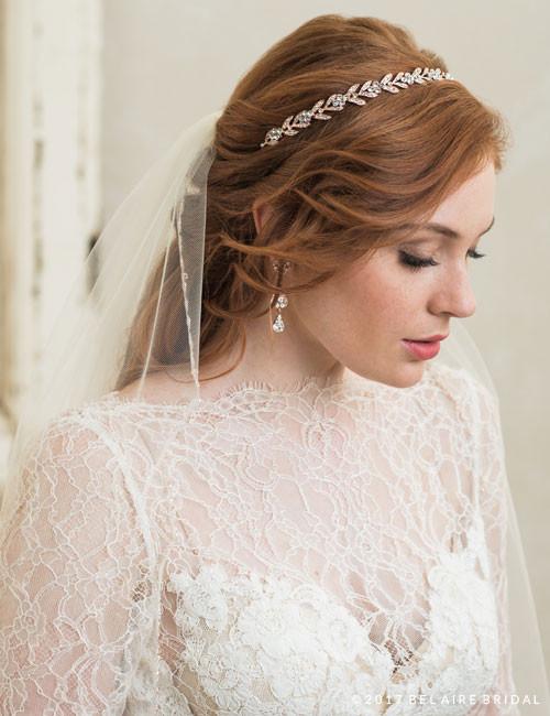 Bel Aire Bridal 6788 - Narrow Rhinestone Headband