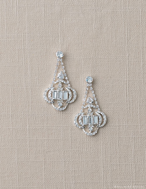 Bel aire bridal earrings ea213 baguette stone earrings for Bel aire bridal jewelry