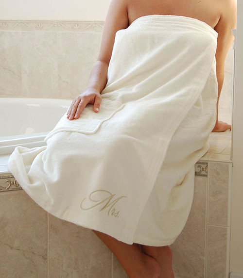 Mrs. Bath Wrap (available In White Or Ivory