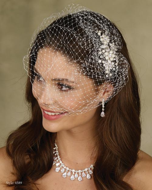 Marionat Bridal LeCrystal  Accessory 4589 - Birdcage Veil